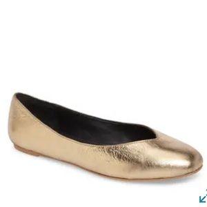 Rebecca Minkoff Gold Ballet Flats 7.5